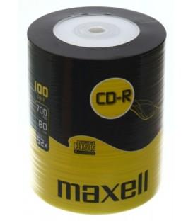 Компакт-диск CD-R Maxell 52x, 100 шт., в тубе