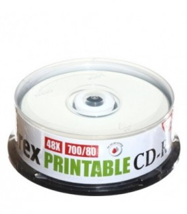 Компакт-диск CD-R Mirex Printable 48x, 25 шт., в тубе