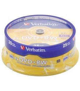 Компакт-диск DVD+RW Verbatim 4x, 25 шт. в тубе