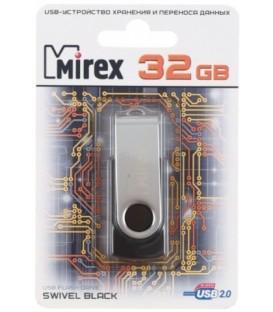 Флэш-накопитель Mirex Swivel 32Gb, корпус черный