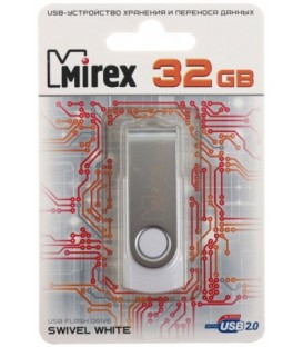 Флэш-накопитель Mirex Swivel 32Gb, корпус белый