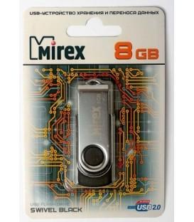 Флэш-накопитель Mirex Swivel 8Gb, корпус черный