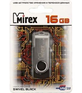 Флэш-накопитель Mirex Swivel 16Gb, корпус черный