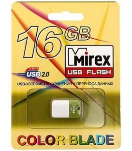 Флэш-накопитель Mirex Arton 16Gb, корпус бело-салатовый