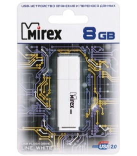 Флэш-накопитель Mirex Line 8Gb, корпус белый