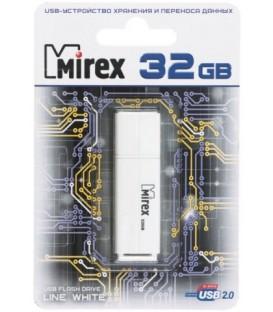 Флэш-накопитель Mirex Line 32Gb, корпус белый