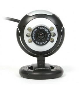 WEB-камера Omega OUW12SB серебристо-черная