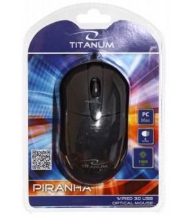 Мышь компьютерная Titanum Piranha TM107K USB, проводная, черная