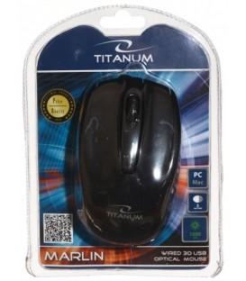 Мышь компьютерная Titanum Marlin TM110K USB, проводная, черная