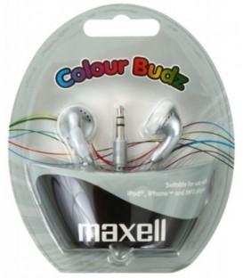Наушники-вкладыши стерео Maxell Colour Budz серебристые