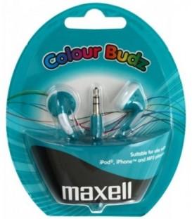 Наушники-вкладыши стерео Maxell Colour Budz синие