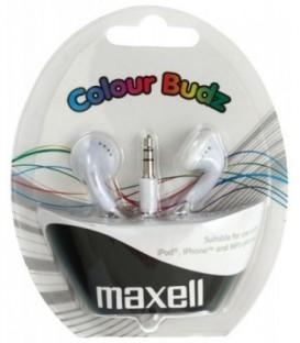 Наушники-вкладыши стерео Maxell Colour Budz белые