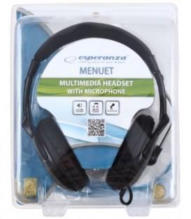 Наушники с микрофоном Esperanza EH101 черные