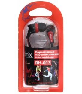 Наушники Ritmix RH-013 черные с красным