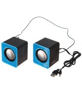 Колонки Omega OG01 черные с синим