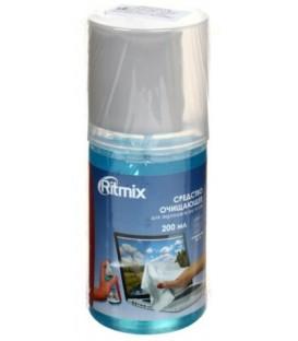 Средство очищающее для экранов всех типов Ritmix 200 мл+салфетка из микрофибры 18*18см