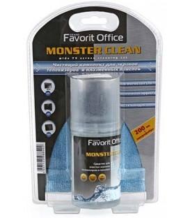 Комплект для очистки экранов телевизоров и плазменных панелей Favorit Office 200 мл+салфетка, Monster Clean