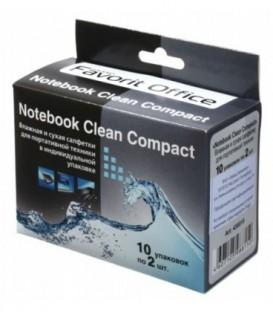 Салфетки чистящие для портативной техники Notebook Clean Compact 10*2 шт.
