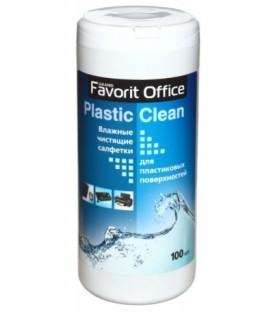 Салфетки чистящие для пластиковых поверхностей Favorit Office 100 шт., в тубе
