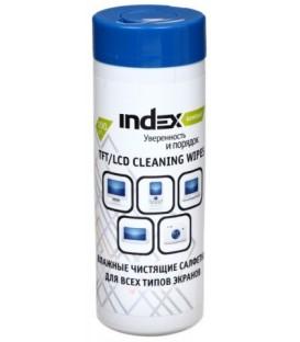 Салфетки чистящие для всех типов экранов Index 100 шт.