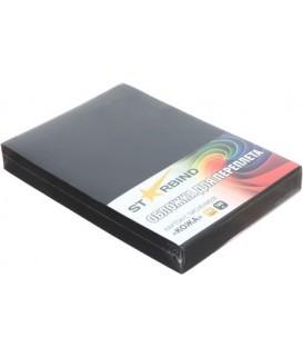 Обложки для переплета картонные Starbind А4, 100 шт., 230 г/м2, черные, фактура «под кожу»