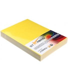 Обложки для переплета картонные Starbind А4, 100 шт., 250 г/м2, глянцевые желтые