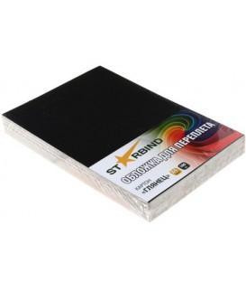 Обложки для переплета картонные Starbind А4, 100 шт., 250 г/м2, глянцевые черные