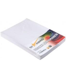 Обложки для переплета картонные Starbind А4, 100 шт., 250 г/м2, глянцевые, белые
