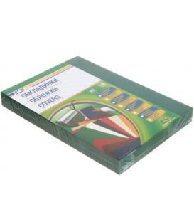 Обложки для переплета пластиковые D-A А4, 100 шт., толщина пластика 300 мкм, непрозрачные зеленые