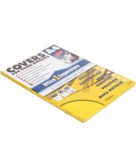 Обложки для переплета пластиковые А4, 25 шт., толщина пластика 400 мкм, непрозрачные желтые
