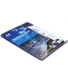 Обложки для переплета пластиковые А4, 100 шт., толщина пластика 150 мкм, прозрачные