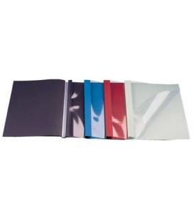 Обложка для канального переплета O.Soft Clear (A) 304*212 мм, 10 мм, 40-90 листов, черная