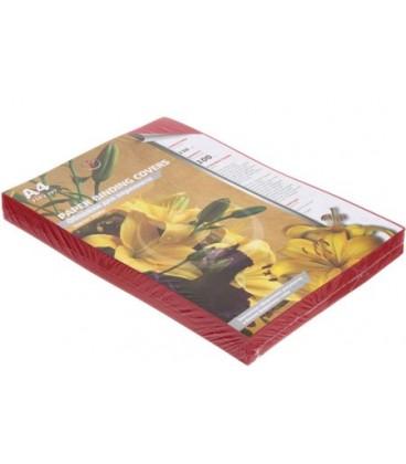 Обложки для переплета картонные А4, 100 шт., 230 г/м2, красные