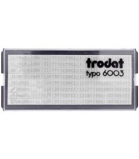 Касса символов для самонаборных штампов Trodat typo 6003 328 символов, высота 3 мм, шрифт латинский