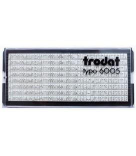 Касса символов для самонаборных штампов Trodat typo 6005 360 символов, высота осн. шрифта 2,2 мм, шрифт для выделения 3,1 мм