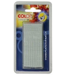 Касса символов для самонаборных штампов Colop 448 букв и цифр, высота основного шрифта 2,2 мм, шрифт для выделения 3,1 мм