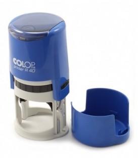 Автоматическая оснастка Colop PR40 в боксе для клише печатидиаметр 248-40 мм, корпус голубой