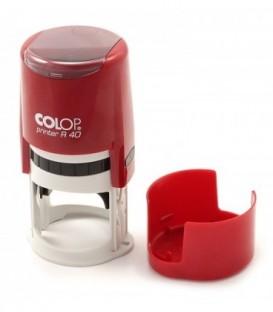 Автоматическая оснастка Colop PR40 в боксе для клише печатидиаметр 248-40 мм, корпус бордовый