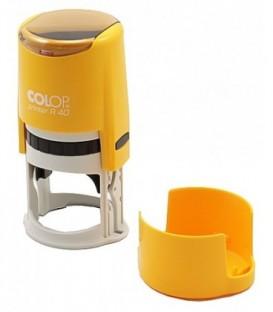 Автоматическая оснастка Colop PR40 в боксе для клише печатидиаметр 248-40 мм, корпус цвета карри