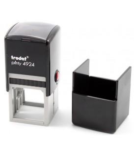Автоматическая оснастка Trodat 4924 в боксе для клише печати/штампа 40*40 мм, корпус черный