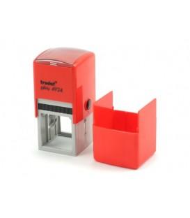 Автоматическая оснастка Trodat 4924 в боксе для клише печати/штампа 40*40 мм, корпус красный