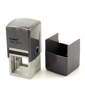 Автоматическая оснастка Trodat 4924 в боксе для клише печати/штампа 40*40 мм, корпус серый