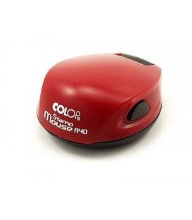 Полуавтоматическая оснастка Colop Stamp Mouse для клише печатидиаметр 248-40 мм, корпус цвета чили-красный