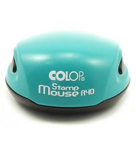 Полуавтоматическая оснастка Colop Stamp Mouse для клише печатидиаметр 248-40 мм, корпус зеленого цвета