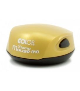Полуавтоматическая оснастка Colop Stamp Mouse для клише печатидиаметр 248-40 мм, корпус желтый