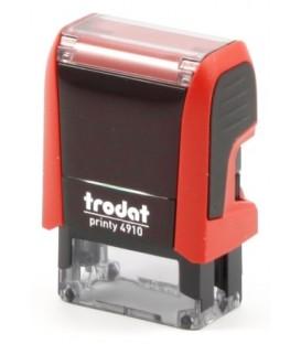 Автоматическая оснастка Trodat 4910 для клише штампа 26*9 мм, корпус красный