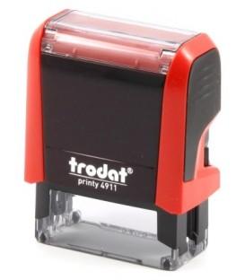Автоматическая оснастка Trodat 4911 для клише штампа 38*14 мм, корпус красный