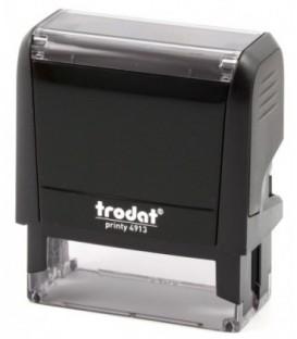 Автоматическая оснастка Trodat 4913 для клише штампа 58*22 мм, корпус черный