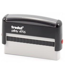 Автоматическая оснастка Trodat 4916 для клише штампа 70*10 мм, корпус черный