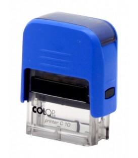 Автоматическая оснастка Colop C10 для клише штампа 10*27 мм, корпус синий